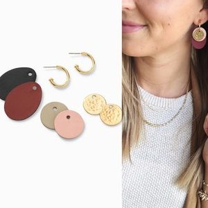 Stella & Dot Color Pop Versatile Hoops in Gold